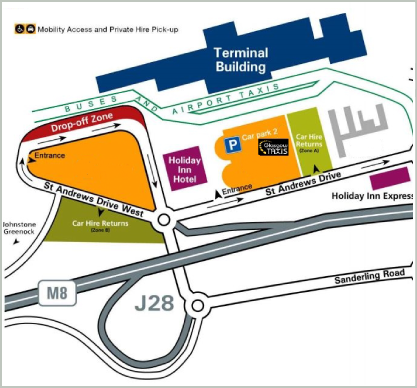 Glasgow airport taxis map