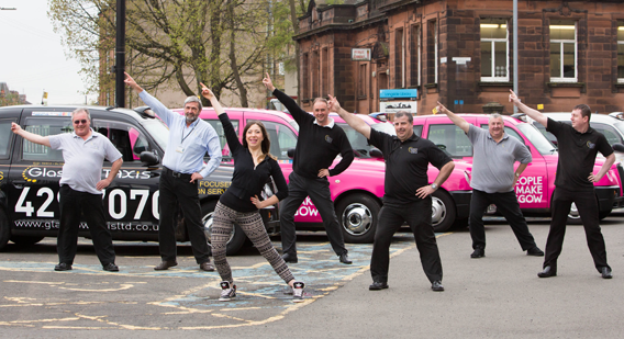 Glasgow Taxis drivers get Fit in' 14