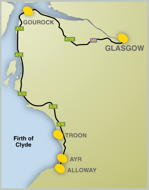 Burns Route Map